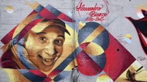 Artisti vari, murales senza titolo, 2018, muri del cavalcavia di corso Bramante