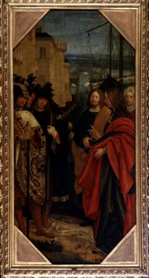 Defendente Ferrari (1480/1485 – post 1540), Sbarco di santa Maria Maddalena a Marsiglia, 1504 circa, tempera su tavola, cm 71x159. Torino, Museo Civico d'Arte Antica e Palazzo Madama, inv. 0463/D