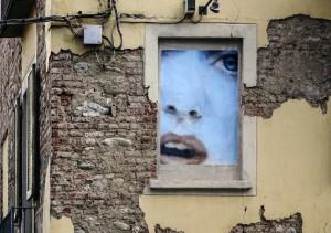 Luigi Presicce, murale senza titolo, 1998, via Balme 24, MAU Museo Arte Urbana. Fotografia di Roberto Cortese, 2017 © Archivio Storico della Città di Torino