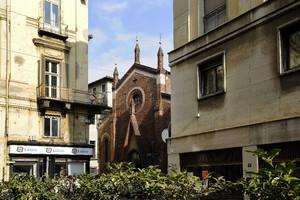 Scorcio della chiesa di San Domenico. Fotografia di Paolo Gonella, 2010. © MuseoTorino.