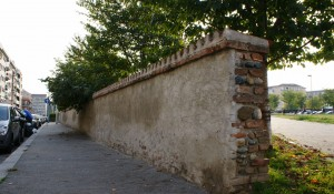 Infilata del muro perimetrale Est della cascina Grangia. Fotografia di Edoardo Vigo, 2012.