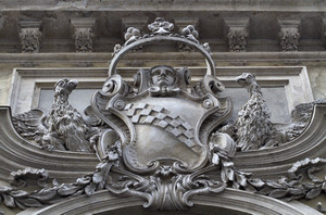 Lo stemma di Palazzo Barolo. Fotografia di Mattia Boero, 2010. © MuseoTorino.