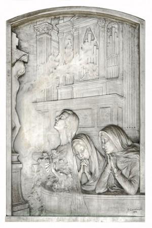 09 AV  Pietro Canonica (1869-1959), Tomba famiglia Abrate (Arcata 16). Fotografia di Roberto Cortese, 2018