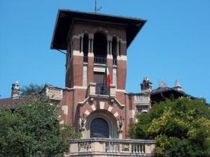 Paolo Napione, Villa Arduino, 1928. Particolare della torretta. Fotografia L&M, 2011.