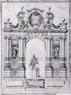 Michel angelo Morello. Frontespizio dell'Atlante [ante 1685]. © Istituto Storico e di Cultura dell'Arma del Genio di Roma.