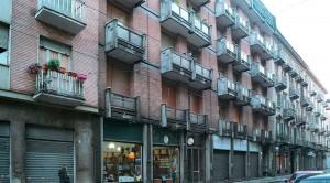Condominio, già area sferisterio in via Napione 34. Fotografia di Luca Davico, 2015