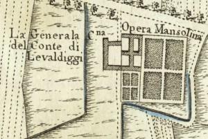 Cascina Generala. Amedeo Grossi, Carta Corografica dimostrativa del territorio della Città di Torino, 1791. © Archivio Storico della Città di Torino