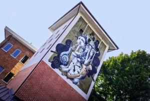 Dom, murale senza titolo, 2010, sede Circoscrizione 4