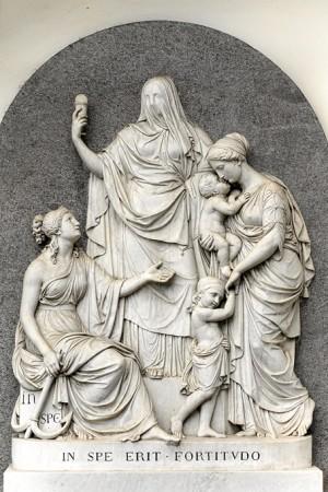20n Giuseppe Bogliani (1805-1881), Tomba famiglia Falletti di Barolo (Campo Primitivo, nicchione 197). Fotografia di Roberto Cortese, 2018