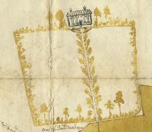 Cascina Mirafiori. Cristoforo Elia, Pianta di tutta la campagna di Miraflores, 1632. © Archivio Storico della Città di Torino
