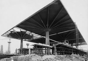 Cantiere Palazzo del Lavoro, 1960 © Archivio Storico della Città di Torino (NAF 01_061)