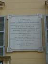 Lapide dedicata a Cesare Alfieri di Sostegno. Fotografia di Elena Francisetti, 2010. © MuseoTorino