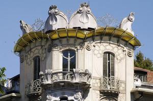 Pietro Fenoglio, Casa Fenoglio (La Fleur, particolare), 1903. Fotografia di Dario Lanzardo, 2010. © MuseoTorino.