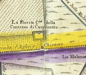 Cascina La Marchesa, già La Florita. Amedeo Grossi, Carta Corografica dimostrativa del territorio della Città di Torino, 1791, © Archivio Storico della Città di Torino