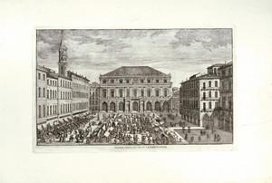Veduta del Palazzo della Città su la Piazza d'Erbe. © Archivio Storico della Città di Torino