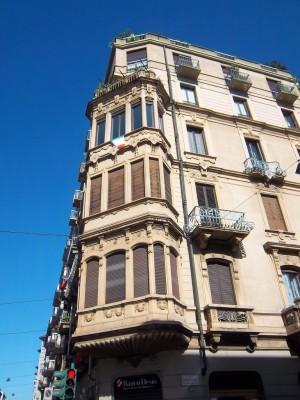 Eugenio Mollino, Casa Bellia, 1908, particolare del bow-window. Fotografia L&M, 2011.