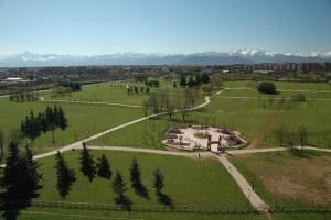 Veduta aerea del Parco Colonnetti, dopo i lavori del 2006. © EUT 10.