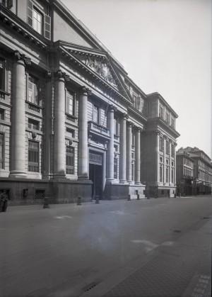 Palazzo dei Supremi magistrati, prospettiva. Fotografia di E. Olivero. © Fondazione Torino Musei - Archivio fotografico.