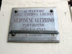Lapide dedicata a Guerrino Veronese (1925 - 1945)