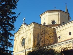 Chiesa dei Santissimi Angeli Custodi, dettaglio del fronte rivolto verso corso Vittorio Emanuele II. Fotografia di Paola Boccalatte, 2014. © MuseoTorino