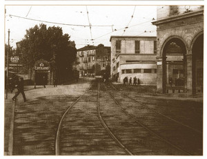 L'ingresso di piazza Baldissera del Lutrario negli anni Quaranta. ©Archivio Privato Roberto Orlandini.