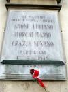 Lapide dedicata ad Amone Luciano, Borghi Mario, Grazia Silvano
