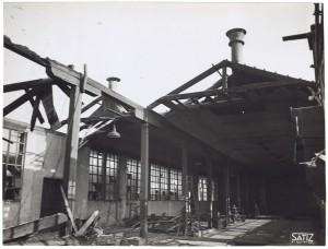 Via Rivalta 61. Stabilimento FIAT - Sezione Materiale Ferroviario. Effetti prodotti dal bombardamento dell'incursione aerea del 20-21 novembre 1942. UPA 2065_9B05-12. © Archivio Storico della Città di Torino