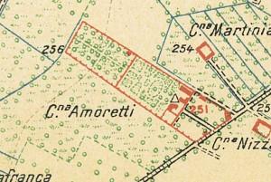 Cascina Amoretti. Istituto Geografico Militare, Pianta di Torino e dintorni, 1911. © Archivio Storico della Città di Torino