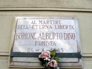 Lapide dedicata a Borrione Alberto Dino (1875 - 1945)