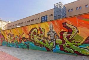 Hide e altri, muro di cinta del Politecnico, 2011