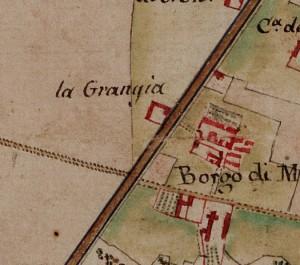 Cascina La Grangia, già Lagrange. Carta delle Regie Cacce, 1816. © Archivio di Stato di Torino