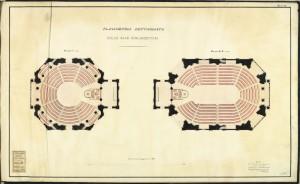 Planimetria dettagliata delle sale parlamentari, Crida 22 novembre 1860. © Archivio Storico della Città di Torino