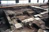 Resti delle pavimentazioni paleocristiane con tracce della solea. © Soprintendenza per i Beni Archeologici del Piemonte e del Museo Antichità Egizie.