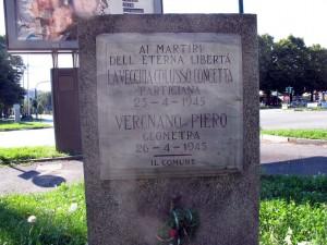 Lapide dedicata a Colusso Concetta in Lavecchia (1915 - 1945), Vergnano Piero (1922 - 1945)