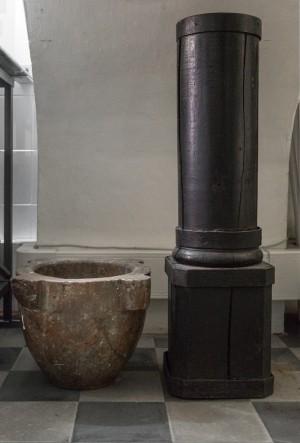 Regia Farmacia Masino, mortaio in pietra, 2016 © Archivio Storico della Città di Torino