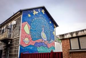 Alessandro Rivoir, murale senza titolo, 1995, via Locana 35, MAU Museo Arte Urbana. Fotografia di Roberto Cortese, 2017 © Archivio Storico della Città di Torino