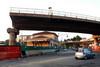 La stazione Dora vista da corso Principe Oddone e il troncone del vecchio sovrappassaggio di corso Mortara, 2010