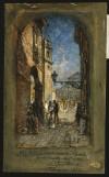 Antonio Fontanesi, Piazza San Giovanni e Duomo da via IV Marzo, 1888. © Fondazione Torino Musei - Archivio fotografico.