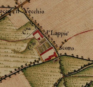 Cascina Borello. Carta Topografica della Caccia, 1760-1766 circa. © Archivio di Stato di Torino