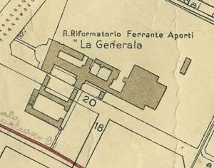 Cascina Generala. Pianta di Torino, 1935. © Archivio Storico della Città di Torino