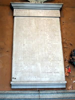 Lapide dedicata ai ferrovieri caduti nella resistenza
