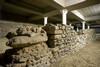 """I resti di strutture romane nell'ex caserma dei Vigili del Fuoco. Parcheggio """"Palazzo"""" in corso XI Febbraio. Fotografia di Marco Saroldi, 2010. © MuseoTorino"""