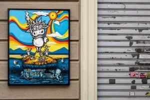 Monica Garrone, Senza titolo, 2013, via san Rocchetto 23, MAU Museo Arte Urbana. Fotografia di Roberto Cortese, 2017 © Archivio Storico della Città di Torino