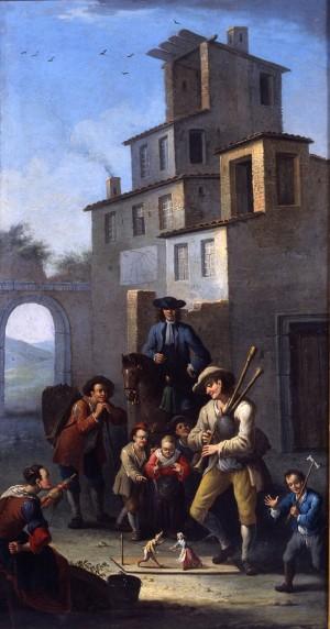 Giovanni Michele Graneri, Il Pifferaio, dipinto, Palazzo Madama e  Museo d'Arte Antica © Fondazione Torino Musei