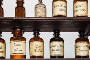 Regia Farmacia Masino, boccette, 2016 © Archivio Storico della Città di Torino
