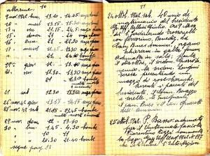 Diario dell'Istituto Lorenzo Prinotti, 1942. ASCT, Fondo Prinotti cart. 31 fasc. 11, 10, pp. 10-11. © Archivio Storico della Città di Torino