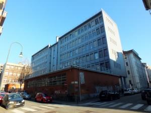 Liceo LAM Aldo Passoni, succursale, da via Bertrandi, già area occupata dall'Istituto di Magistero. Fotografia di Paola Boccalatte, 2014. © MuseoTorino