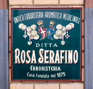 Ditta Rosa Serafino Erboristeria, insegna esterna, 2017 © Archivio Storico della Città di Torino