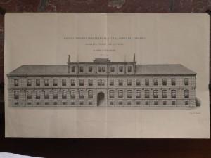 Regio Museo Industriale, Facciata verso via Cavour, già via dell'Ospedale