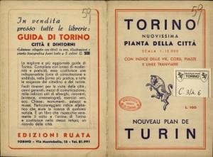 Pianta topografica della città di Torino, 1950 circa. Biblioteca civica centrale, Cartografico 3/4.6.02 © Biblioteche civiche torinesi
